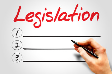 Legislation blank list, business concept