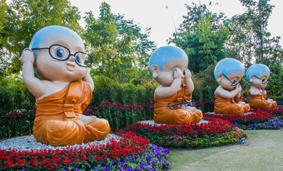 Buddhist novice models.