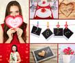 Valentine's Day photo collage