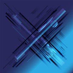Abstract stripe technology blue