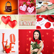 Valentine's Day photo collage