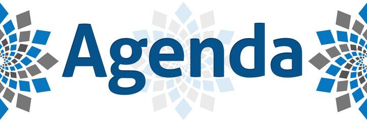Agenda Blue Grey Square Element Banner