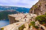 Fototapety Preachers Pulpit Rock in fjord Lysefjord - Norway