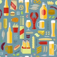 beer pattern colored