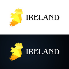 Golden Logo with Ireland Contour