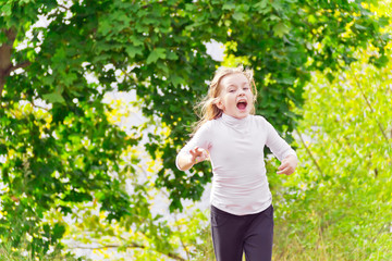 Cute running girl