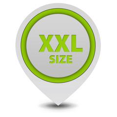 XXL size pointer icon on white background