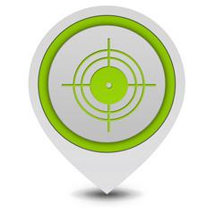 Target pointer icon on white background