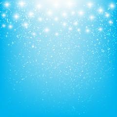 Shiny stars on blue background