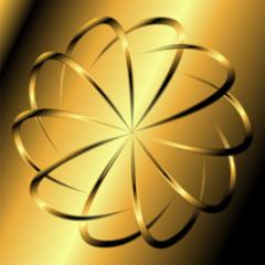 Golden swirl background template