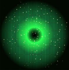 Green Dots circle background