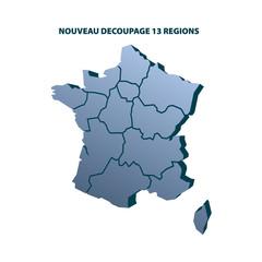 NOUVEAU DECOUPAGE REGIONS FRANCE