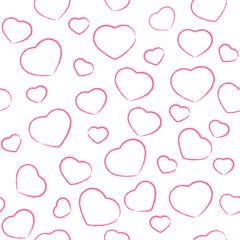 Pink drawing hearts