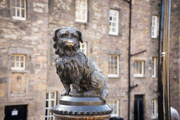 EDINBURGH, SCOTLAND  Bobby a Skye Terrier monument