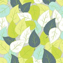 Green leaf seamless pattern.