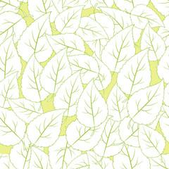 Leaf seamless pattern.