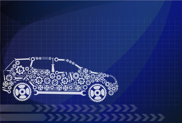 concept, symbolizing the car as a mechanism