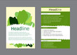 Brochure Flyer design vector template vegetables