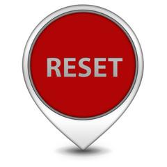 reset pointer icon on white background