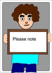 Man show reminder note