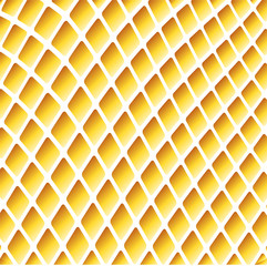 Yellow wavy background with grid template