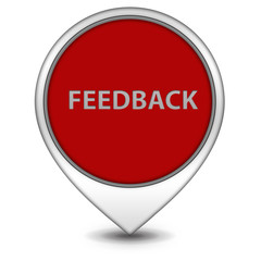 Feedback pointer icon on white background
