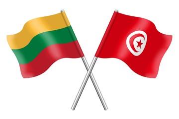 Flags: Lithuania and Tunisia