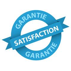 Tampon SATISFACTION GARANTIE (service clientèle qualité)