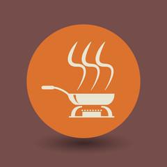 Cooking symbol, vector