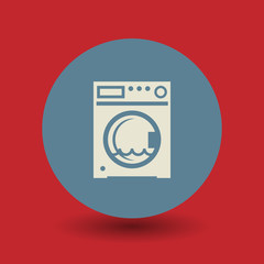 Washing machine symbol, vector