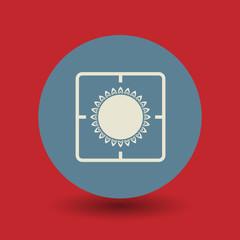 Gas flame symbol, vector