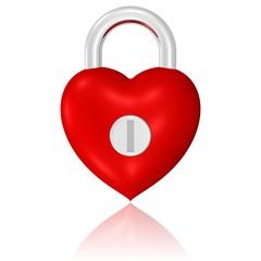 Schloss in Herzform, verschlossenes Herz