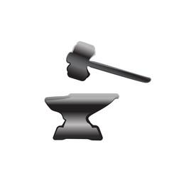 anvil blacksmith symbol vector illlustration