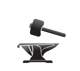 anvil blacksmith symbol vector illlustration