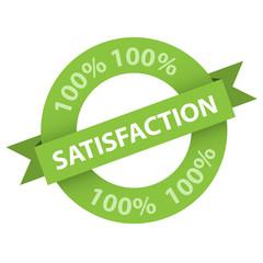 Tampon 100% SATISFACTION (service clientèle qualité)
