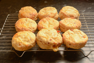 Scones cooling on wire rack
