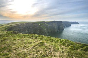 Cliffs of Moher and Atlantic Ocean