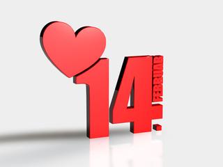 14 Februar - Herz - 3d