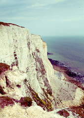 White cliffs south coast of Britain, Dover, famous place for ar