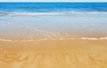 Summer message on the sand
