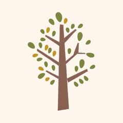 plant tree flat icon elements,eps10