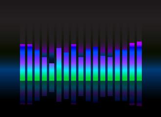 equalizer sound wave illustration vector