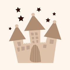 architecture castle flat icon elements,eps10