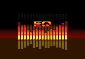 equalizer sound wave illustration vector