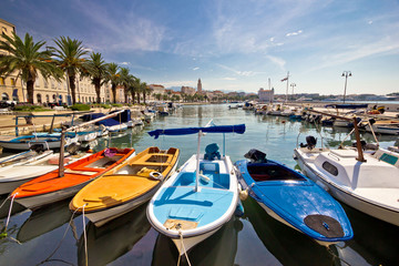 City of Split colorful harbor view