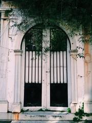 old arch door