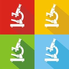 Iconos microscopio colores sombra