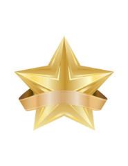vector golden star element