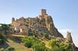 Leinwandbild Motiv Panoramic view of Craco. Basilicata. Italy.