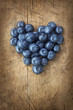 canvas print picture - Heart from blackberries